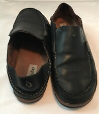 Men's Olukai Moloa Black Loafer Slip On Shoes Size 10