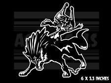The Legend of Zelda -  Midna and Wolf Link - Nintendo Vinyl decal sticker