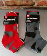 under armour 2 packs of 3 lo cut socks 4y-8y red,gray,black, white