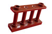 Lego 10 Stück Zaun in braun (reddish brown) 1x4x2 Zäune Geländer 30055 Neu City