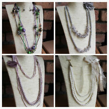 Glass Beaded Strand/String Costume Necklaces & Pendants