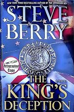 THE KINGS OF DECEPTION-BY STEVE BERRY-AUTOGRAPHED-1ST EDITION-SUSPENSE-THRILLER!