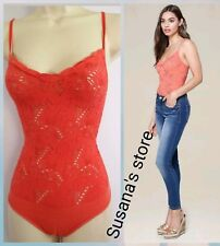 NWT bebe Lace Strappy Bodysuit  SIZE S Sweet and sexy, seamless bodycon fit!