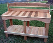 Potting Bench Cedar Greenhouse Garden Planting Crafted to Order in USA Style 10