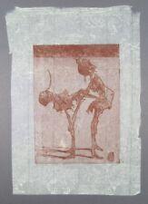 Horst Janssen Blatt 19 aus Pfänderspiel Radierung 1983 handsigniert u. dat