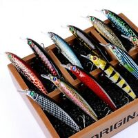 13.4g Color Painting Fishing Lure Artificial Crankbaits Minnow Wobbler Lure HS