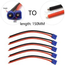 10 Pcs  EC3 Plug Male Connector Silicone Wire With 15cm 14AWG