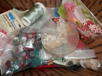 Large Lot of Sewing Notions, Fills A Medium Flat Rate Shipping Box