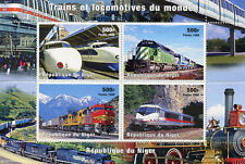 Niger 1998 MNH Trains & Locomotives of the World 4v M/S Railways Rail Stamps