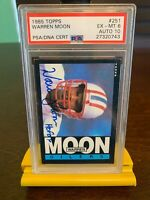 1985 Topps Warren Moon Rookie Autograph PSA 10, Card PSA 6, #251. For Charity!❤️