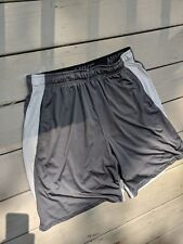 Nike Dri Fit Polyester Spandex Gray Casual Gym Basketball Shorts - Men's XL