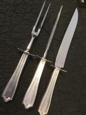 International Sterling Governor Bradford Roast Carving Set Knife And Fork 3 Pc