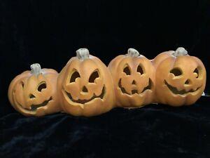 Trendmasters 4 Lighted Jack O Lantern Pumpkins Halloween Lamp Decorations