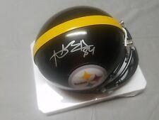 Antonio Brown #84 Pittsburgh Steelers signed Riddell mini helmet +coa