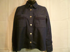 Authentic SEE BY CHLOE Indigo Denim Shirt Top w/ Embroidery Detail Size 38