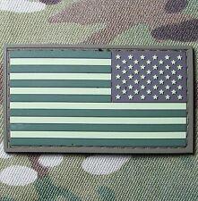 USA REVERSE FLAG RUBBER PVC TACTICAL ARMY MORALE MILSPEC MULTICAM HOOK PATCH