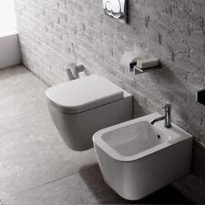 Sanitari Sospesi Ceramica Globo Stone 45 WC + BIDET + SEDILE