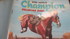 Whitman 1957 Gene Autry's CHAMPION coloring book~NEVER colored!