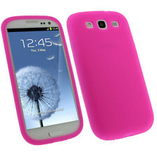 Pink Silicone Skin Case for Samsung Galaxy S3 III i9300 Android Cover Holder