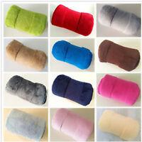 Micro Coral Plain Fleece Blanket Soft Luxury Warm Home Sofa Bed Throw 100*150