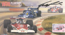 1976 McLAREN-COSWORTH TYRRELL-COSWORTH FERRARI USA F1 cover signed GUY EDWARDS