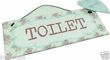 'TOILET' ENGLISH GARDEN FLORAL VICTORIAN STYLE METAL PLAQUE GREAT GIFT