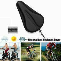 3D Soft Silicone Pad Bike Comfy Cushion Saddle Seat Cover Bicycle Accessories K