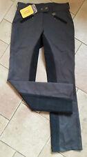 Neue HKM Josy Jodhpur Vollbesatz Reithose grau/schwarz