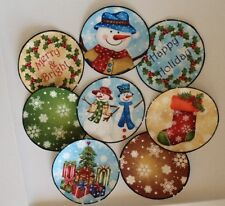 Christmas Holiday Snow Balls -  Iron On Fabric Appliques