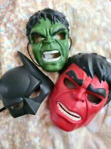 Boys Fancy Dress Up face Masks.marvel superheros. One size