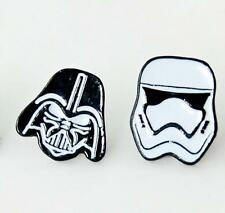 star war black with white metal earring ear stud earrings studs one pair new