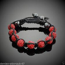 Bracciali di bigiotteria tennis rosse