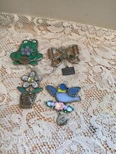 Ganz Frog - Bird - Butterfly - Flower with charms suncatcher or ornament - Lot 2