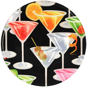 """Andreas COCKTAILS Set of 2 Silicone 10"""" Trivets *DISHWASHER SAFE, Beautiful!"""