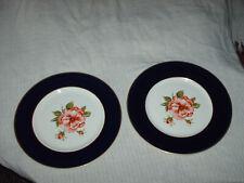 More details for 2x vintage myott plates english rose 27.5 cm wide