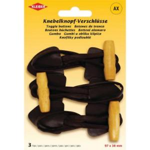 3 Paire Knebelknopf-Verschluss Braun Pour Manteaux, Costume Ou Similaire Kleiber