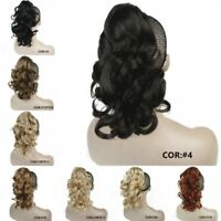 Curly Clip In Claw Ponytail Hair Extension Hairpiece 125g with a jaw/claw clip #