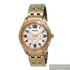 FOSSIL Uhr BQ1411 Multifunktions-Armbanduhr aus Edelstahl sportlich rotgold