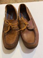 Sperry Top Sider Tan Leather Boat Shoe Men's Sz 10. M
