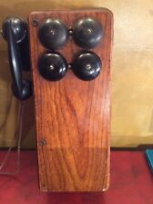 Vintage Phone GENERAL ELECTRIC OAK PHONE  ES2411