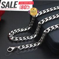 Panzerkette dick 5MM Halskette Silber 60cm lang Edelstahl für Herren Männer S17