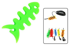 Enrouleur Poisson Vert Câble Kit Piéton, Souris, Casque, USB, Chargeur, MP3