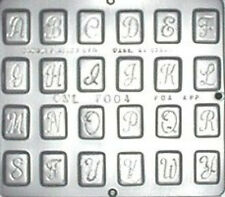 "Alphabet  1 1/4"" Chocolate Candy Mold  7004 NEW"