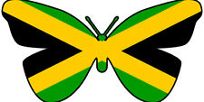 24 X EDIBLE BUTTERFLY CUP CAKE TOPPERS - JAMAICA JAMAICAN FLAG OLYMPICS