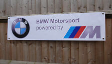 BMW M power Motorsport workshop garage PVC banner sign e30, X5, M3, M5 530d Z4