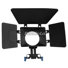 Movie Matte Box f 15mm rod support follow focus rig system DV GH2 600D T3i DSLR