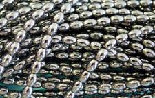135  Semi Precious Hematite Oval Beads 6MM