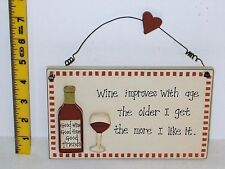 Wine Improves With Age wall Plaque Christmas Secret Santa Gift Ideas For Her