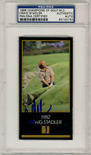 Craig Stadler SIGNED Champions Of Golf Masters Card PSA/DNA AUTOGRAPHED