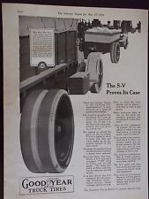 1916 Goodyear Truck Tires S-V Proves Its Case Advertisement